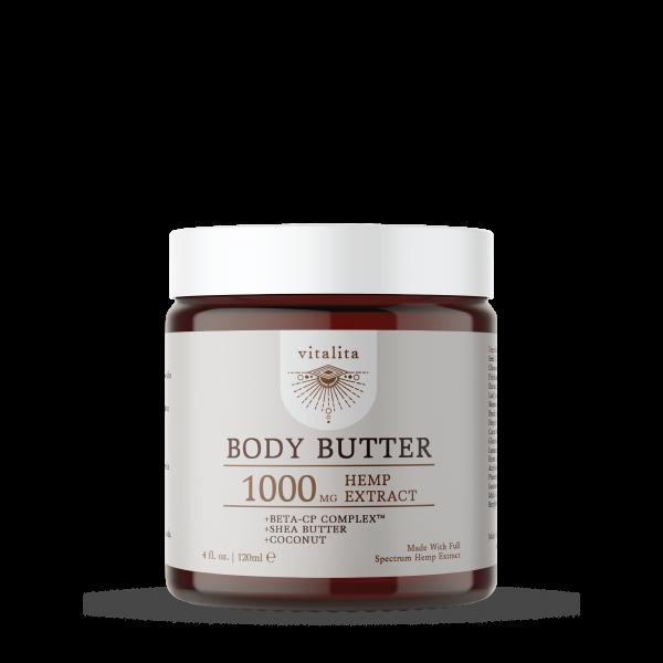 hemp body butter, 1000mg hemp extract, Vitalita