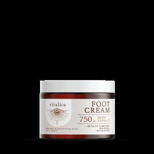 CBD foot cream, 750mg hemp extract, Vitalita